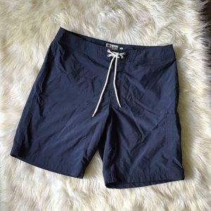 *J Crew* Navy blue swim trunks size 33